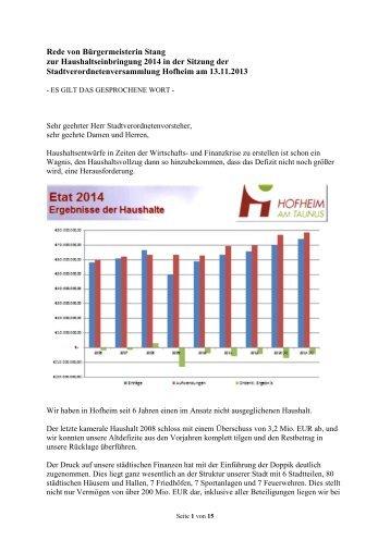Haushaltsrede 2014 PDF-Datei, 4,81 MB - Stadt Hofheim am Taunus