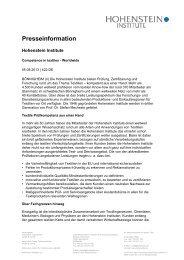 Competence in Textiles. Worldwide. - Hohenstein Institute