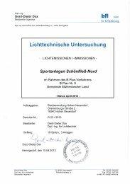 Lichttechnische Untersuchung - in Hohen Neuendorf, dem