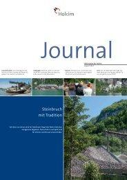Journal Innerschweiz 2013 (PDF-Datei, 1MB) - Holcim Schweiz