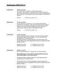 Spielmodus HKM 2013/14 - homepage-baukasten-dateien.de