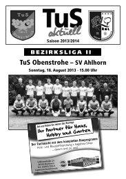TuS Obenstrohe – SV Ahlhorn - homepage-baukasten-dateien.de