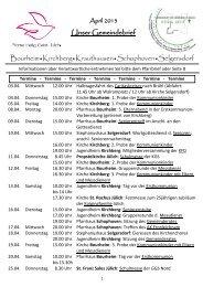 Unser Gemeindebrief BourheimKirchbergKrauthausenSchophoven ...