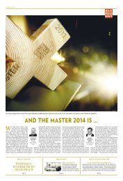 and the master 2014 is … - Hotel & Gastro Union