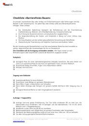 Checkliste «Barrierefreies Bauen - Hausinfo