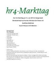 Der hr4-Markttag am 14. Juni 2013 in Seligenstadt Gemüseeintopf ...