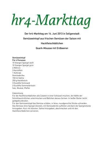 Der hr4-Markttag am 30.12.2011 Italienischer Heringssalat mit ...