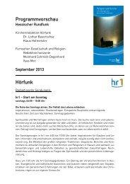 Kirche und Welt - Hessischer Rundfunk