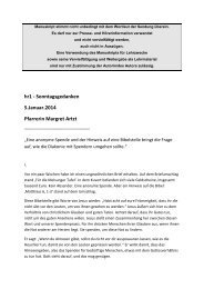 hr1 - Sonntagsgedanken 5.Januar.2014 Pfarrerin Margret Artzt