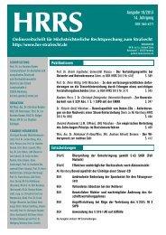 HRRS Ausgabe 10/2013 - hrr-strafrecht.de