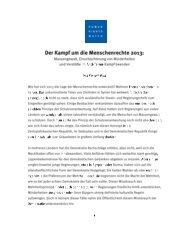 Einleitung von Kenneth Roth (PDF) - Human Rights Watch