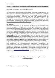 Formular Antrag auf Finanzierung von Maßnahmen aus ...
