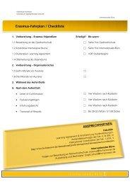 Infoblatt für ERASMUS-Studierende 2013/14 - Hochschule Hannover