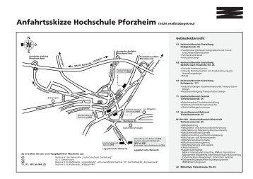 Anfahrtsweg - Hochschule Pforzheim