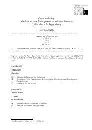 Grundordnung der Hochschule für angewandte Wissenschaften ...