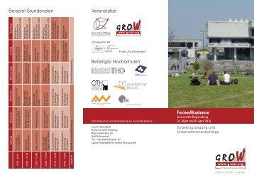 FerienAkademie - Ostbayerische Technische Hochschule Regensburg