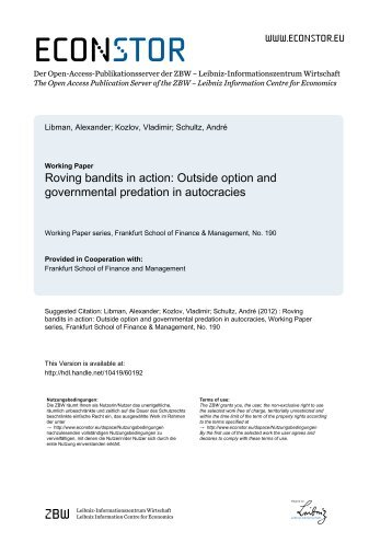 Outside Option and Governmental Predation in Autocracies
