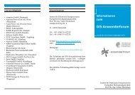 Aktuelle Werbebroschüre des GIS-Anwender Forums - Fachgebiet ...