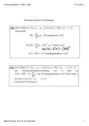 Vorlesung Statistik - WING - ASW