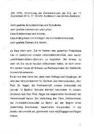 Grußwort von Prof. Dr. Michael Kämper-van den Boogaart ...