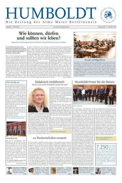 Ausgabe 1 2013/2014 - Humboldt-Universität zu Berlin