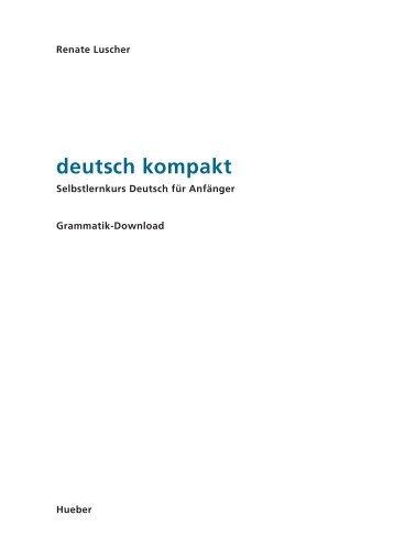 deutsch kompakt - Hueber