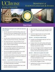 German Program Flyer - School of Humanities