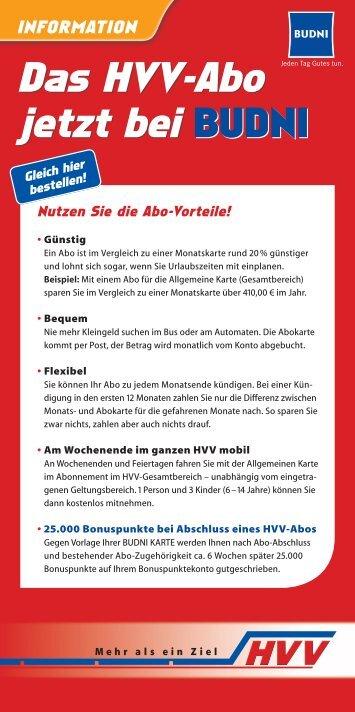 Flyer zur Abo-Werbeaktion - HVV