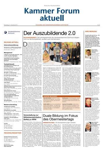 Der Auszubildende 2.0 - Handwerkskammer Dortmund