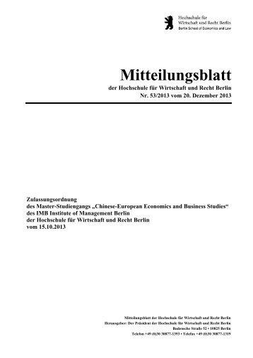 Chinese-European Economics and Business Studies