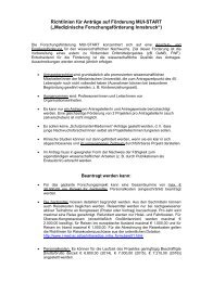 """Richtlinien für Anträge auf Förderung MUI-START (""""Medizinische ..."""