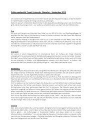 Erfahrungsbericht Tongji University, Shanghai – September 2013