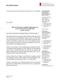 Wahlergebnis Gremienwahlen 2013 - Hochschule für Wirtschaft und ...