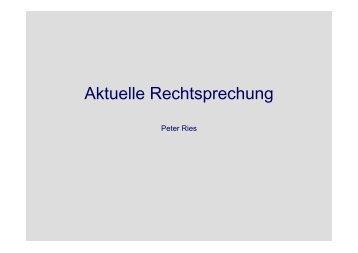 Aktuelle Rechtsprechung - Hochschule für Wirtschaft und Recht Berlin