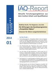 IAQ-Report 2014-01 als PDF - Institut Arbeit und Qualifikation