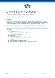 Lithium -Batterie - IATA