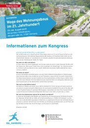 Kongressinformation - IBA Hamburg