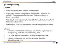 6 Reengineering - Universität Stuttgart