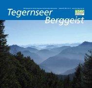 Berggeist Tegernseer - DAV Sektion Tegernsee