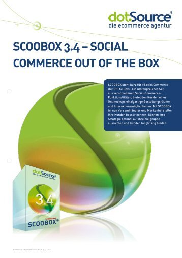 SCOOBOX 3.4 – SOCial COmmerCe Out Of the BOX - iBusiness