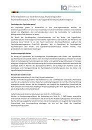 Infoblatt Psychologischer Psychotherapeut, Kinder- und ...