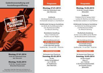Gedenkveranstaltung und Ausstellungseröffnung - Idar-Oberstein