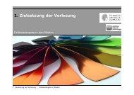 1. Zielsetzung der Vorlesung - Institut für Druckmaschinen und ...