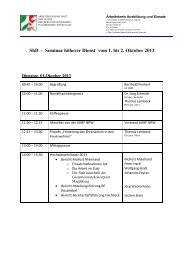 Seminar höherer Dienst vom 1. bis 2. Oktober 2013 - Institut der ...