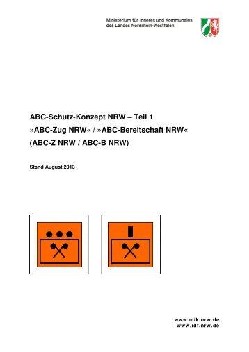 ABC-Schutz-Konzept NRW – Teil 1 - Institut der Feuerwehr ...