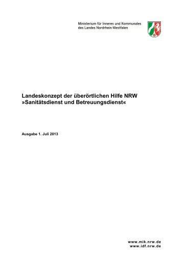Landeskonzept der überörtlichen Hilfe NRW »Sanitätsdienst und ...