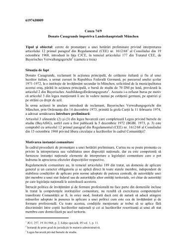 61974J0009_rezumat IER.pdf