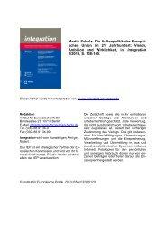 Volltext - Institut für Europäische Politik [IEP]