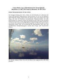Cruise M101, Leg 1 (Fahrtleiterin Dr. Karin Sigloch) Mauritius, 23 ...