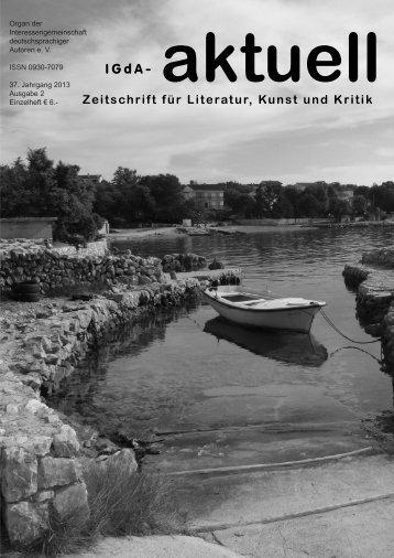 Heft 2 / 2013 - Interessengemeinschaft deutschsprachiger Autoren eV